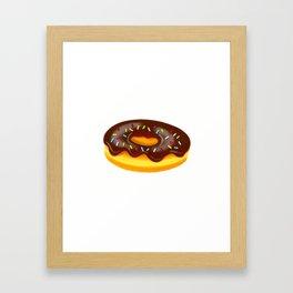 Chocolate Donut Framed Art Print