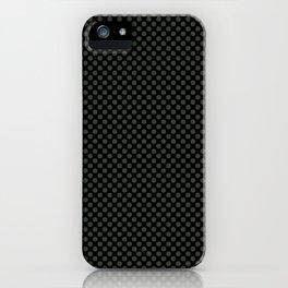 Black and Duffel Bag Polka Dots iPhone Case