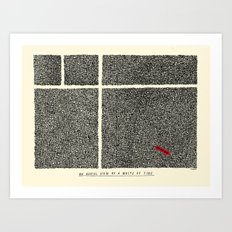 An Aerial View of a Waste of Time Art Print
