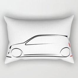 Clio silhouette Rectangular Pillow