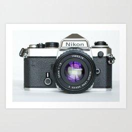 Vintage Nikon Camera Art Print
