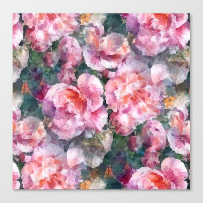 Pink floral pattern Canvas Print
