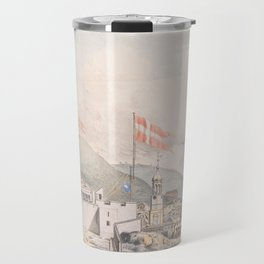 Vintage Pictorial View of Christiansted St Croix (1839) Travel Mug