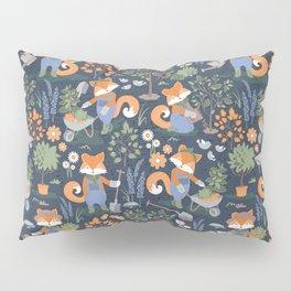 The foxy gardener // orange foxes Pillow Sham