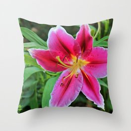 The Lily and the Bee Throw Pillow
