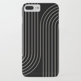 Minimal Line Curvature - Black and White II iPhone Case