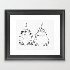 Two Speckled Hens Framed Art Print