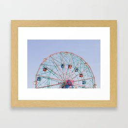 The Wonder Wheel Framed Art Print