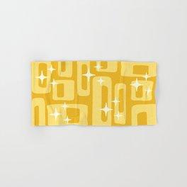 Retro Mid Century Modern Abstract Pattern 127 Yellow Hand & Bath Towel