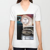 cars V-neck T-shirts featuring Cars 1 by I Take Pictures Sometimes