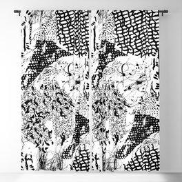 graphic mosaic Blackout Curtain