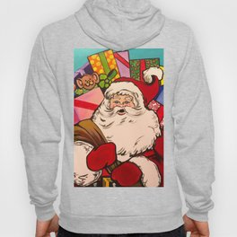 SANTA CLAUS WITH BOXES OF PRESENTS Hoody