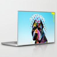 pitbull Laptop & iPad Skins featuring pitbull  by mark ashkenazi