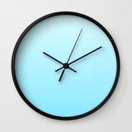 color gradient blue 7 Wall Clock
