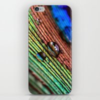 peacock feather iPhone & iPod Skins featuring peacock feather by Falko Follert Art-FF77