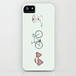 Lunettes Vélo Café  iPhone Case