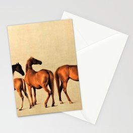 Classical Master Piece Circa 1762  Rockingham Mares and Foals by George Stubbs Stationery Cards