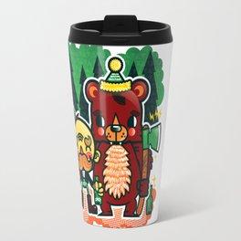 Lumberjack and Friend Travel Mug