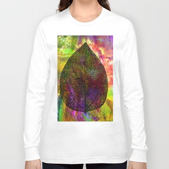 rainbow leaf Long Sleeve T-shirt