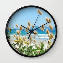 Beach bunny tail  sea grass Wall Clock