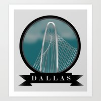 Cityscape (Dallas) Art Print