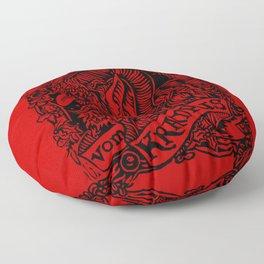 Gruss Vom Krampus Floor Pillow