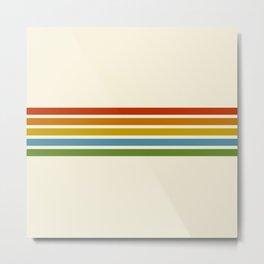 Retro Rainbow Stripes 2 Metal Print