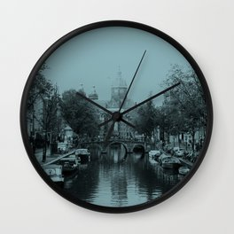 Amsterdam Canal #1 Wall Clock