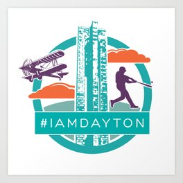 I Am Dayton - History - Color Art Print