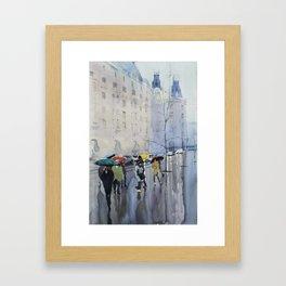 Plaze de las Cortes Framed Art Print