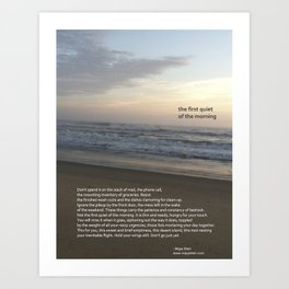 the first quiet of the morning Art Print