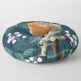 Robin Red Breast Floor Pillow