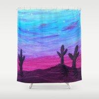 arizona Shower Curtains featuring Arizona by Hearts and Keys Art