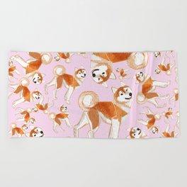 Akita Inu Beach Towel