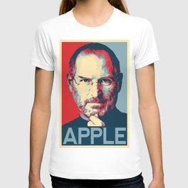 Steve Jobs art - apple T-shirt