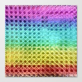 Rainbow Weave Canvas Print