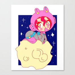 Space Bun Bun Canvas Print