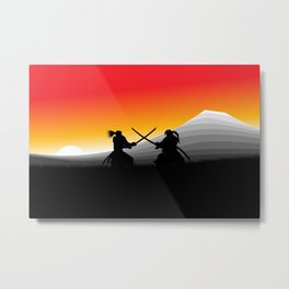 Samurai Standoff Metal Print