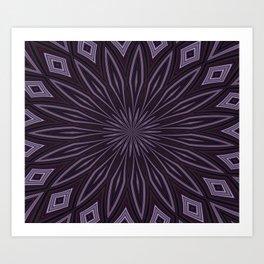 Eggplant and Aubergine Floral Design Art Print