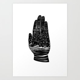 Palmist Art Print