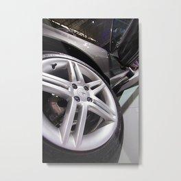 Peugeot 308 Feline Wheel Metal Print