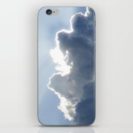 Sun Breaking Through Clouds iPhone Skin