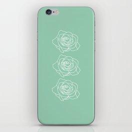 Rose Vert Claire iPhone Skin