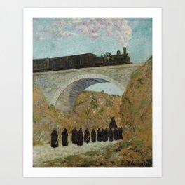 REGOYOS, Darío de (Ribadesella, Asturias, 1857-Barcelona, 1913) Vendredi Saint en Castille (Viernes Art Print
