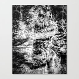 The Wiz - Black & White Canvas Print