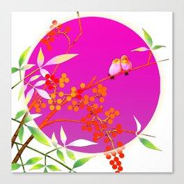 birdies romancing Canvas Print