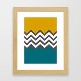 Color Blocked Chevron Framed Art Print