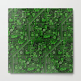 Short Circuits Metal Print