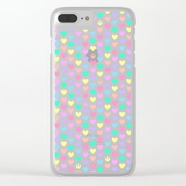 Pastel Rebel Hearts, Rebel Alliance, Rebel Scum, Rogue One on Blue Clear iPhone Case