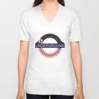 velvet underground V-neck T-shirts featuring UNDERGROUND by Kasım Aliosman